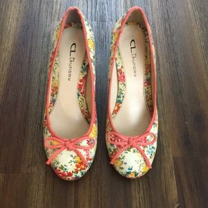 CL by Laundry floral high heels